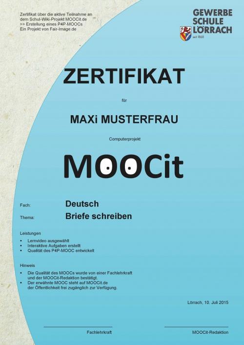 Zertifizierung – MOOCit, P4P Mini MOOCs